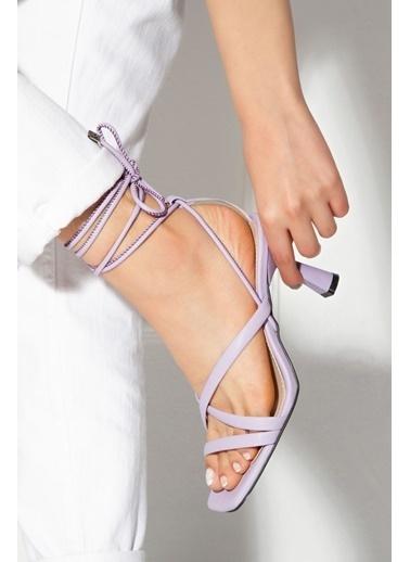 Derithy Rapına Topuklu Ayakkabı-Lıla-Byc1702 Lila